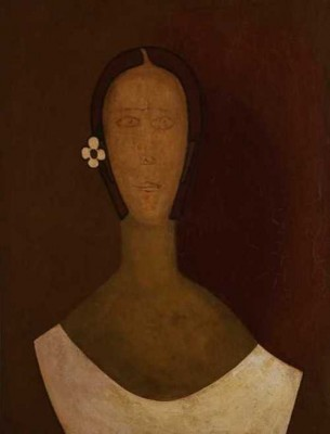 "Amelia Peláez, ""Gundinga"" (1931, Oil on fabric)"